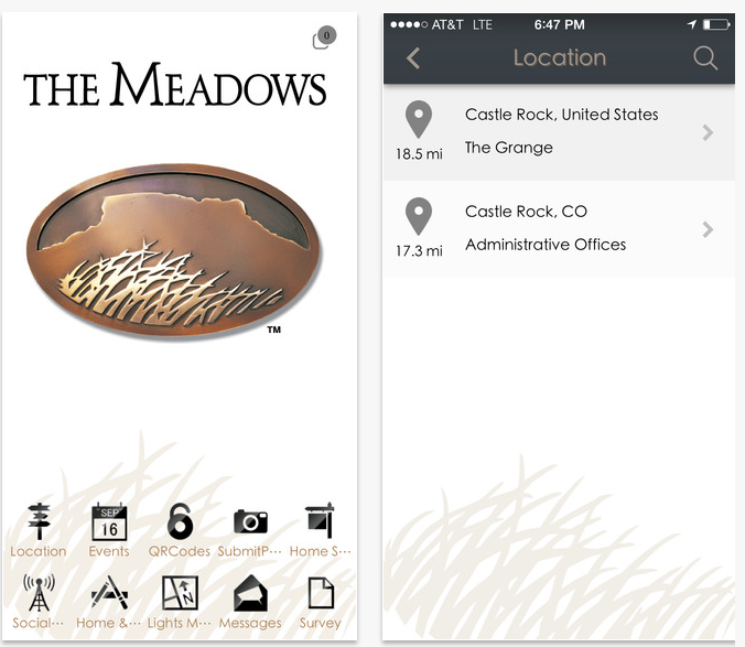 The Meadows Community Phone App - Castle Rock, CO